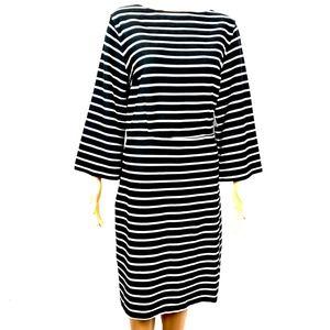 NWT Old Navy Women's Black White Striped Dress L